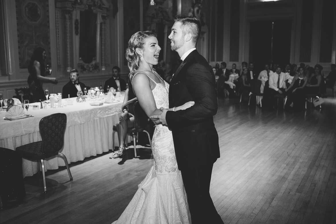 Best Delaware wedding photographer. Bride and groom first dance.