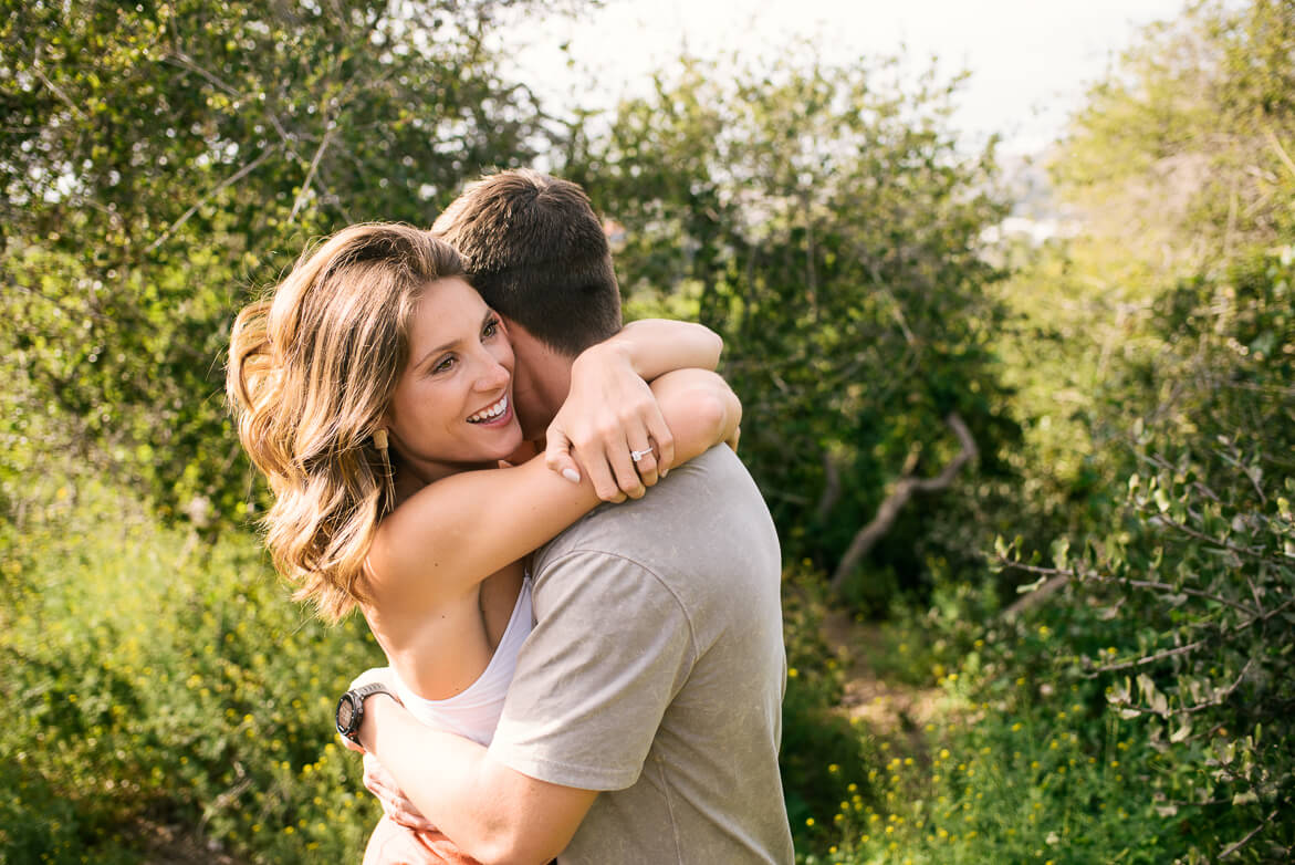 San Diego couple poses with dreamy engagement photographer ALN IMAGES.
