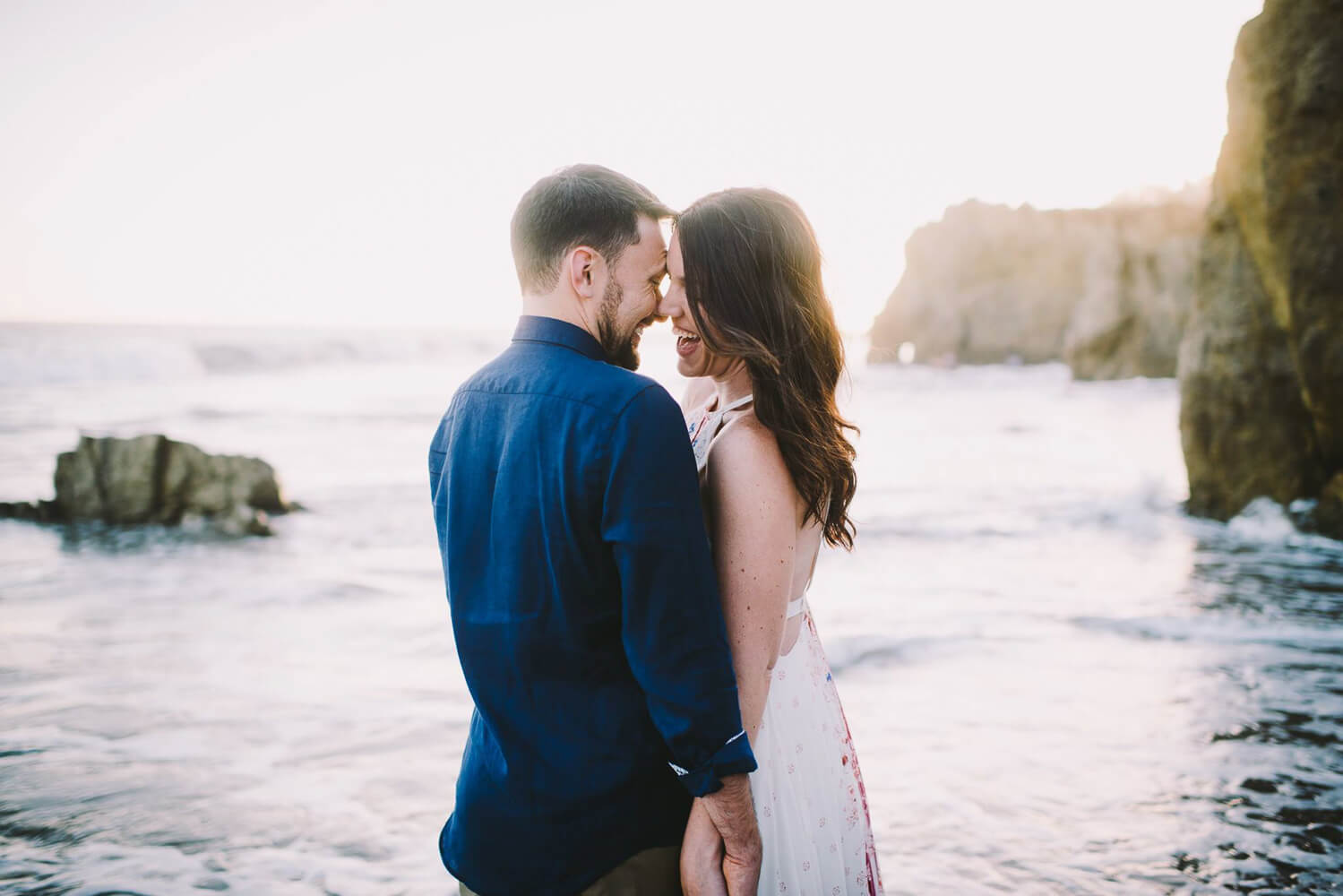 Los Angeles wedding photographer beach sunset shoot