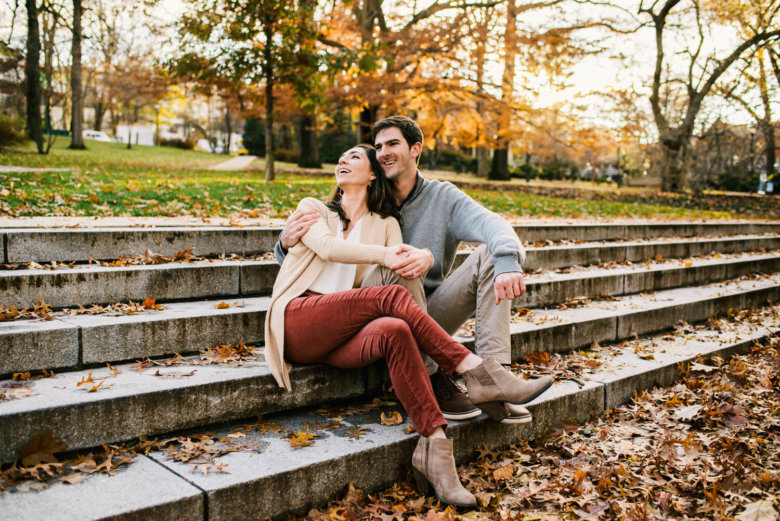 lehigh university engagement session outside engagement photography