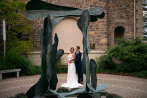 wedding ceremony at the Michener museum in doylestown PA by ALN Images