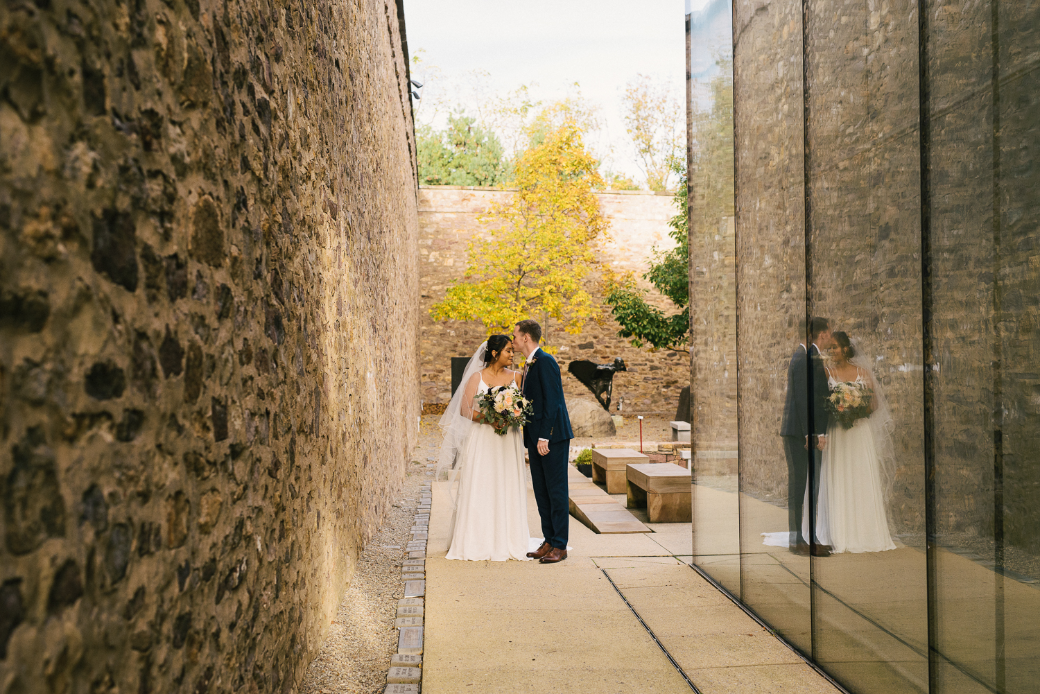 bride and groom portrait in Doylestown PA by ALN IMAGES