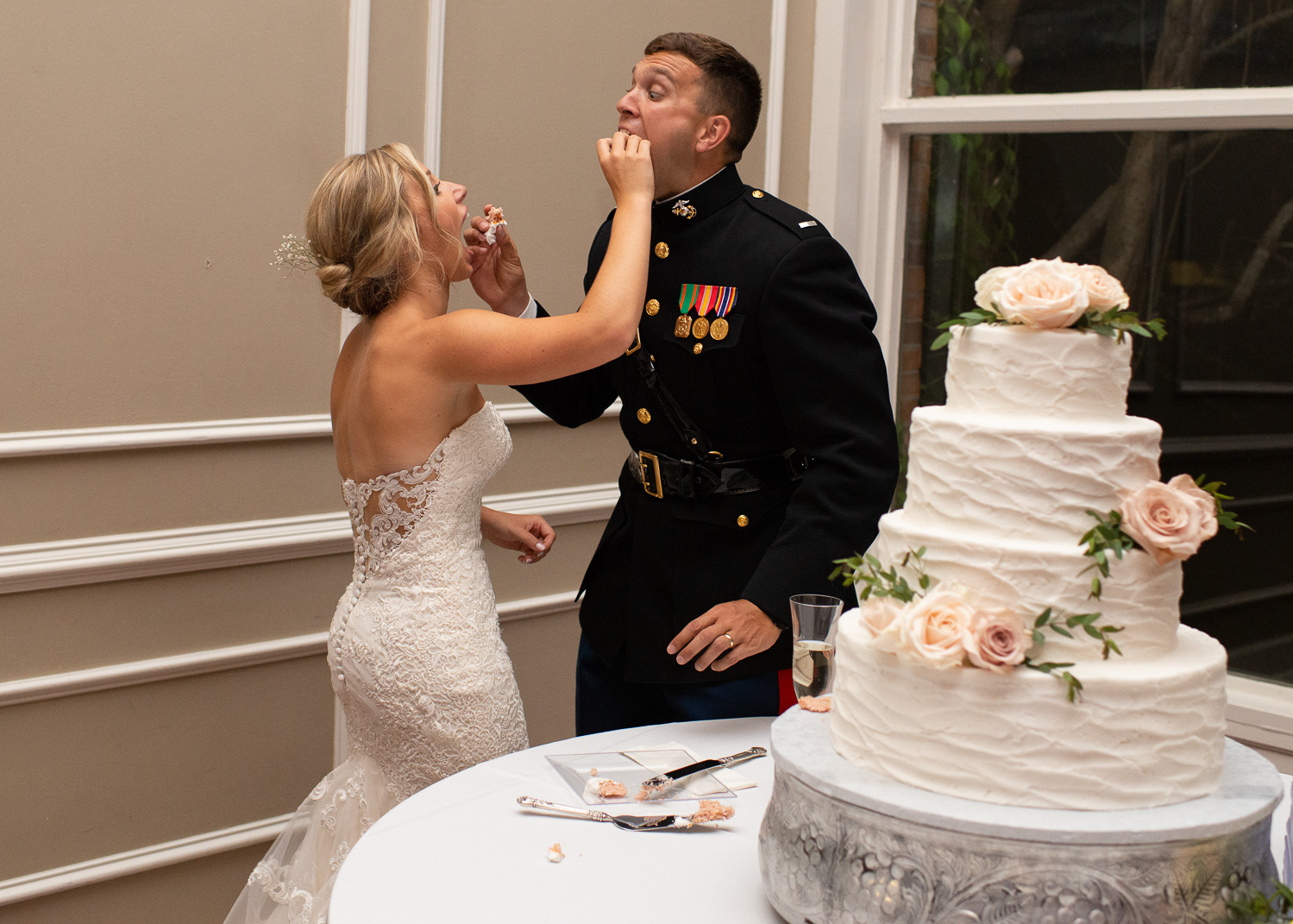 Memphis Wedding Photographer captures George and Ramsay's military wedding reception in Memphis TN. ALN IMAGES