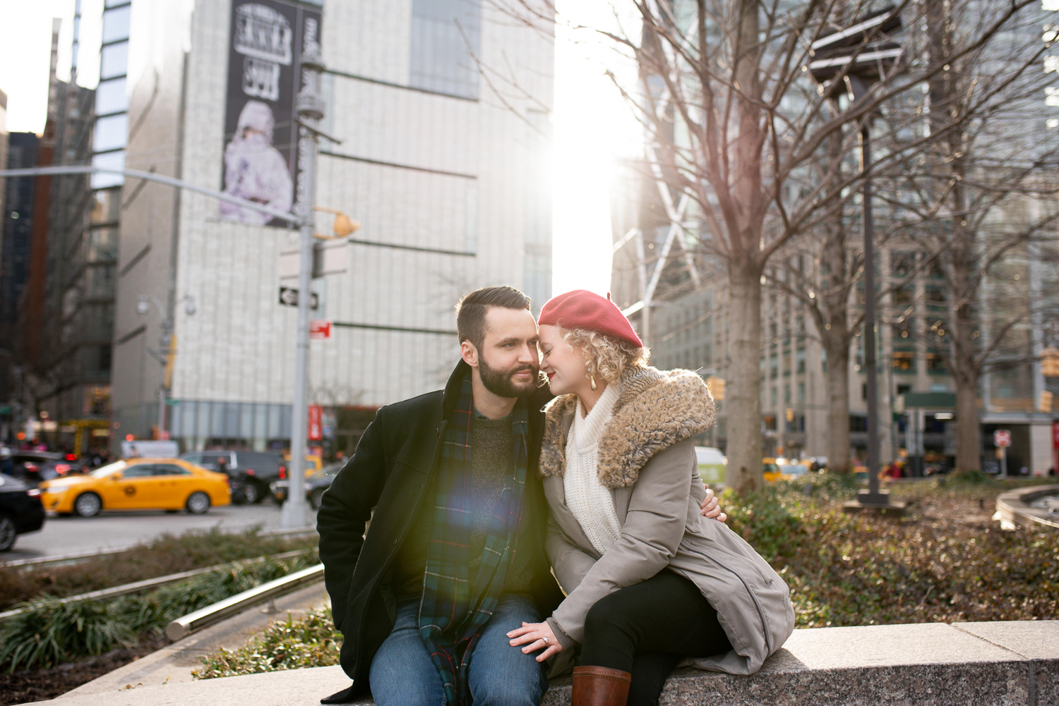 Amanda Jane Cooper, recently seen as Glinda in Wicked, gets engaged in New York City. Photo by ALN IMAGES