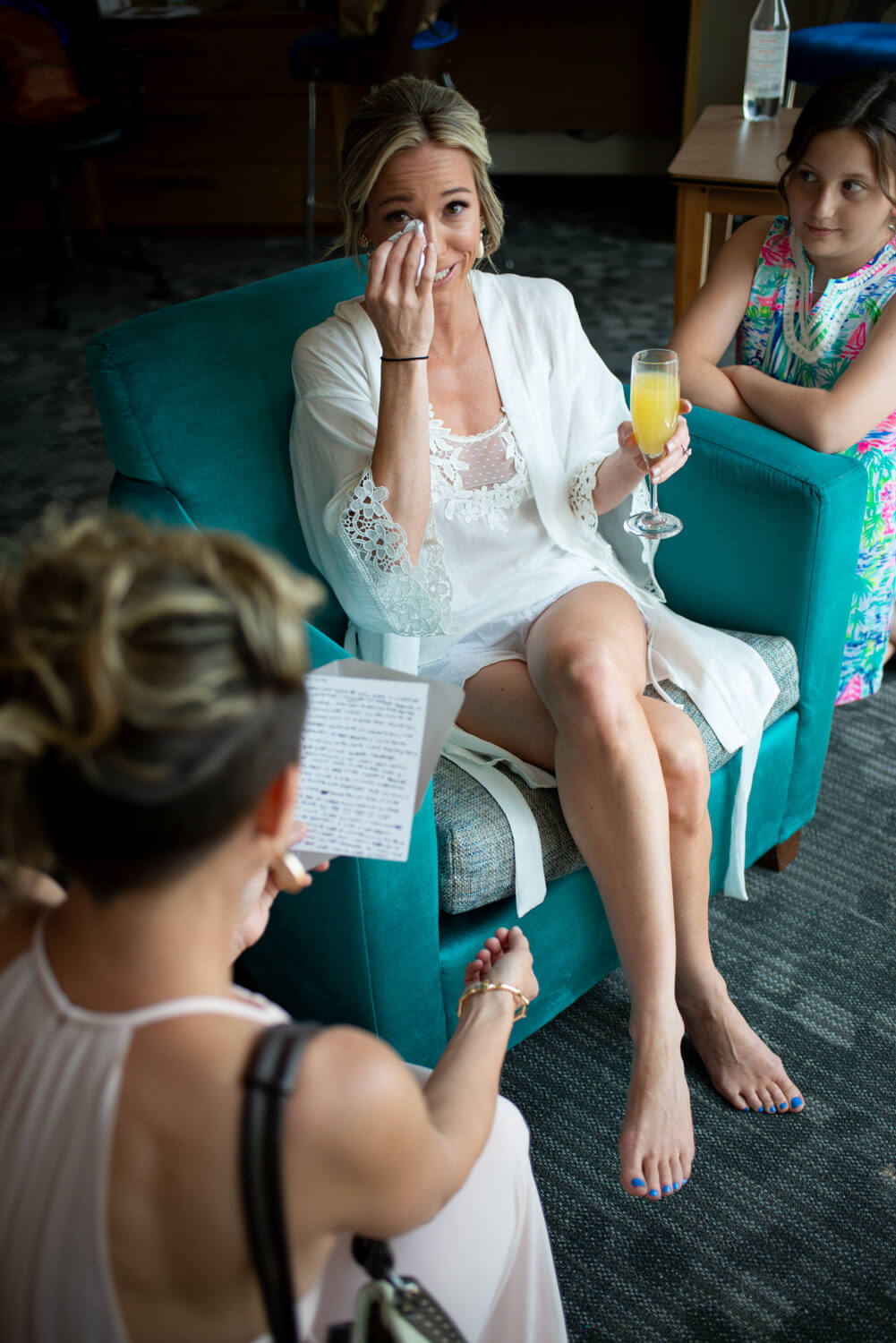 ALN Images captures bride and groom reading their letters.