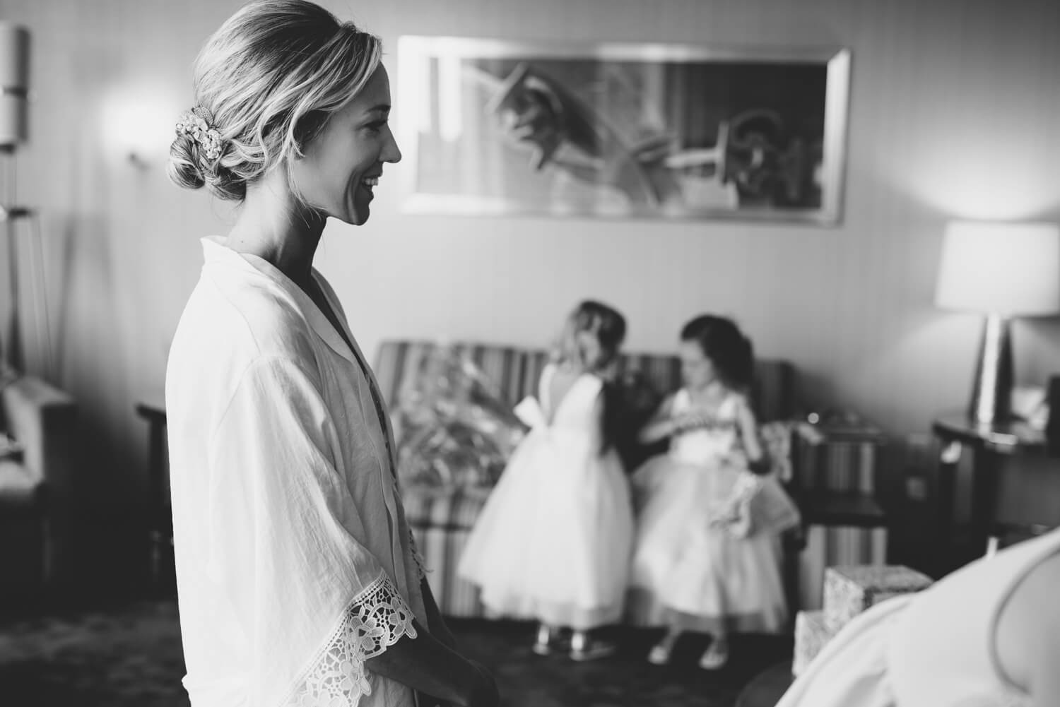 ALN Images captures bride and groom reading their letters. Philadelphia wedding photographer.